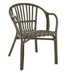 Šedá židle z ratanu Premier Housewares Havana