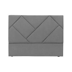 Šedé čelo postele HARPER MAISON Annika, 200 x 120 cm