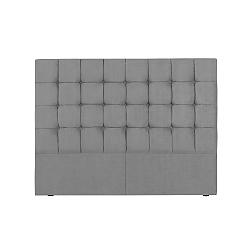 Šedé čelo postele Kooko Home Hasso, 120 x 140 cm