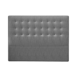 Šedé čelo postele se sametovým potahem Windsor & Co Sofas Athena, 160x120cm