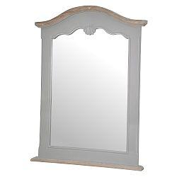 Šedé nástěnné zrcadlo z topolového dřeva s přírodními detaily Livin Hill Catania, 60 x 81 cm