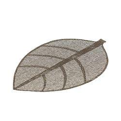 Šedé prostírání ve tvaru listu Unimasa, 50 x 33 cm