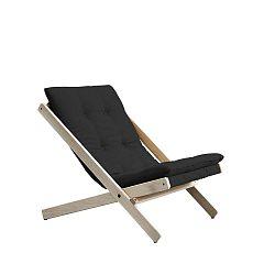 Šedé skládací křeslo z bukového dřeva Karup Design Boogie Dark Grey, 60 x 115 cm