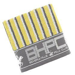 Šedo-žlutý ručník Beverly Hills Polo Club Lawson, 50x100cm