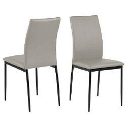 Šedobéžová jídelní židle Actona Demina