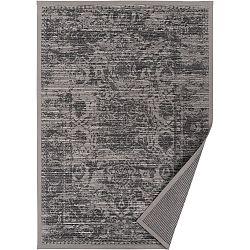 Šedobéžový vzorovaný oboustranný koberec Narma Palmse, 70x140cm
