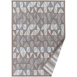Šedobéžový vzorovaný oboustranný koberec Narma Treski, 70x140cm