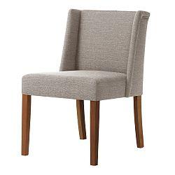Šedohnědá židle s tmavě hnědými nohami Ted Lapidus Maison Zeste