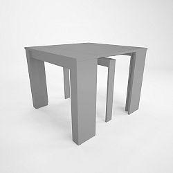 Šedý dřevěný rozkládací jídelní stůl Artemob Katherin