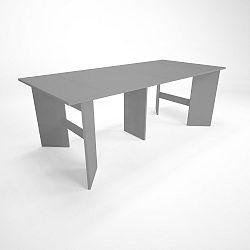 Šedý dřevěný rozkládací jídelní stůl Artemob Linder