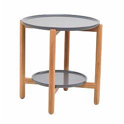 Šedý dubový stolek Folke Wendigo, ⌀ 55 cm