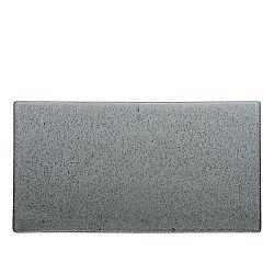Šedý kameninový servírovací tác Bitz Mensa, délka 30 cm