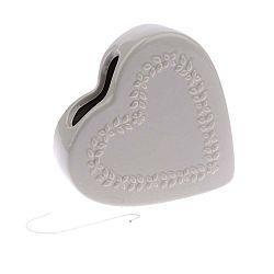 Šedý keramický zvlhčovač vzduchu Dakls Heart