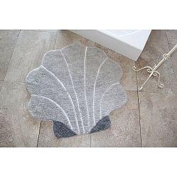 Šedý koberec ve tvaru mušle Alessia, Ø 90 cm