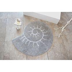 Šedý koberec ve tvaru šneka Alessia, Ø 90 cm