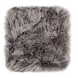 Šedý sedák z ovčí kožešiny na jídelní židli Royal Dream, 40x40cm