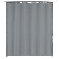 Šedý sprchový závěs Wenko Punto, 180x200cm