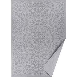 Šedý vzorovaný oboustranný koberec Narma Pitsalu, 70x140cm