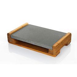 Servírovací podnos s granitovou deskou Bambum, 30 x 20 cm
