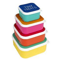 Set 4 ks svačinových boxů Happy Jackson Snack