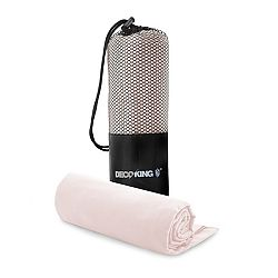 Set růžové osušky a ručníku DecoKing EKEA