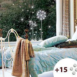 Set samolepky a 15  krystalů Ambiance Dandelion Flowers