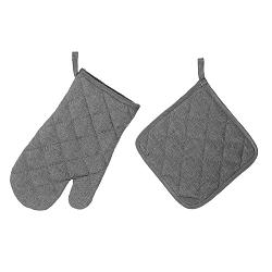 Set šedé chňapky a rukavice Unimasa
