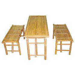 Set stolu a 2 lavic z bambusu Leitmotiv