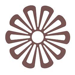 Silikonová podložka pod horké nádoby ve švestkové barvě Zone Flower