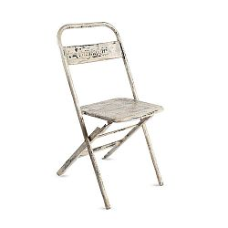 Skládací ručně vyráběná židle z recyklovaného kovu RGE Mash