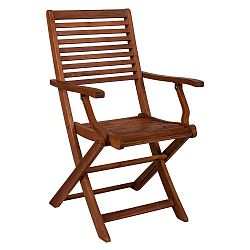 Skládací židle ze dřeva akácie Crido Consulting Acacia