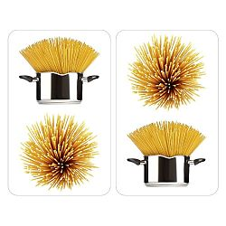 Skleněný kryt na sporák Spaghetti, 2 ks