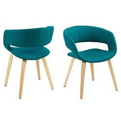 Smaragdově zelená jídelní židle s podnožím z bukového dřeva Actona Grace