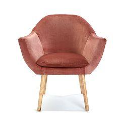 Starorůžová čalouněná židle Versa Terracota