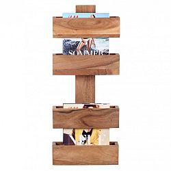 Stojan z masivního akáciového dřeva na časopisy Skyport Candela