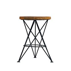 Stolička s deskou z mangového dřeva LABEL51 Paris