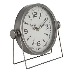 Stolní hodiny Mauro Ferretti Pull Silver,25x23,5cm