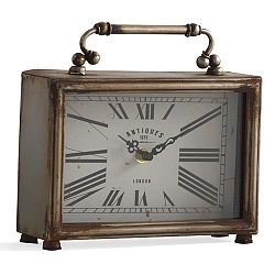 Stolní hodiny ve stříbrné barvě Geese Old