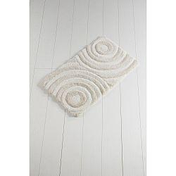Světle béžová koupelnová předložka Confetti Bathmats Wave Ecru, 60 x 100 cm