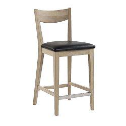 Světle hnědá dubová barová židle s černým podsedákem Folke Dylan