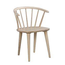 Světle hnědá jídelní židle ze dřeva kaučukovníku Folke Carmen