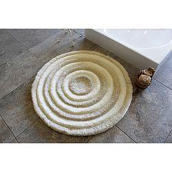 Světle hnědá koupelnová předložka Alessia Ecru, Ø 90 cm