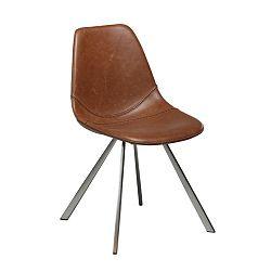 Světle hnědá koženková jídelní židle DAN-FORM Denmark Pitch