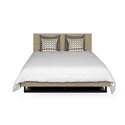Světle hnědá postel s nohami z oceli TemaHome Mara, 180 x 200 cm