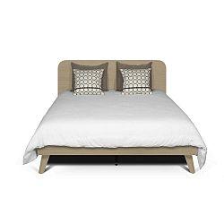 Světle hnědá postel TemaHome Mara, 180 x 200 cm