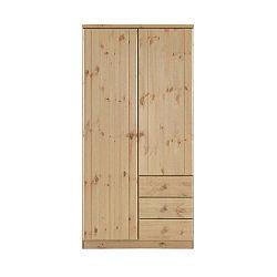 Světle hnědá šatní skříň z borovicového dřeva Steens Ribe, 202 x 100,8 cm