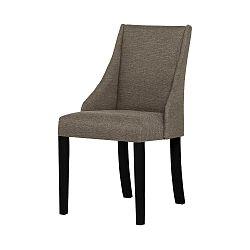 Světle hnědá židle s černými nohami Ted Lapidus Maison Absolu