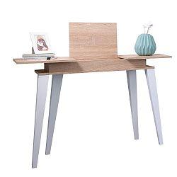 Světle hnědý konzolový stolek Symbiosis Prism