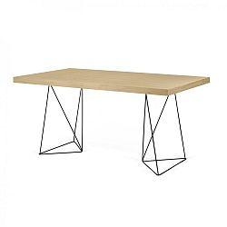 Světle hnědý stůl s černým podnožím TemaHome Trestles, 180 cm