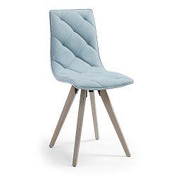 Světle modrá jídelní židle La Forma Tuk